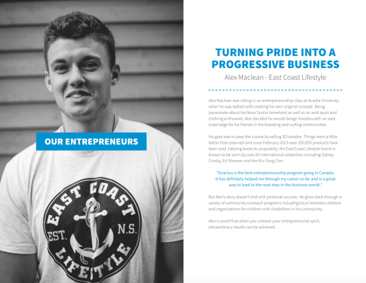 Written Excerpt from Enactus Canada Annual Report 2013-2014