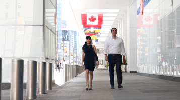 Screen Shot from the 'Are You of Us' Video Produced for Enactus Canada