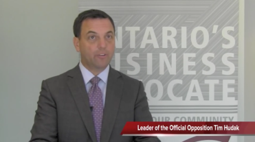 Screenshot from Interview with Tim Hudak